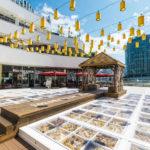 横浜ベイクォーター秋の装飾「枯花テラス」を開催中